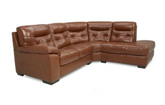 Leather and Leather Look Left Hand Facing Arm 2 Piece Corner Sofa Brazil with Leather Look Fabric