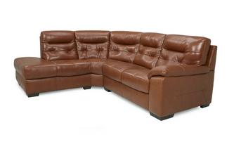 Leather and Leather Look Right Hand Facing Arm 2 Piece Corner Sofa