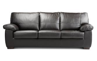 Leather and Leather Look 3 Seater Deluxe Sofa Bed Essential