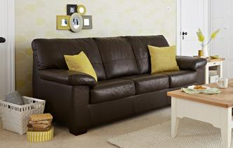 Pavilion Leather and Leather Look 3 Seater Deluxe Sofa Bed Essential