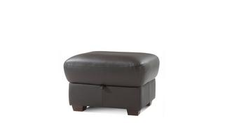 Pavilion Leather and Leather Look Storage Footstool