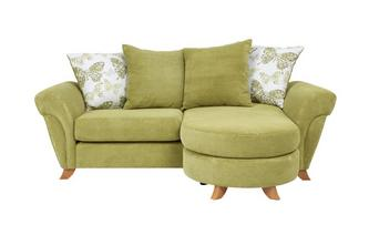 3 Seater Pillow Back Lounger Sofa