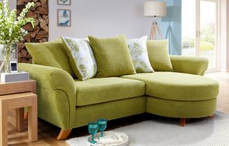 Pennie 4 Seater Pillow Back Lounger Sofa Pennie