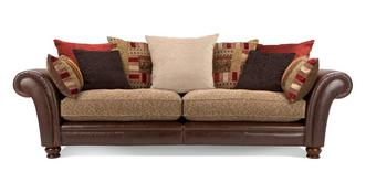 Perez 4 Seater Pillow Back Sectional Sofa