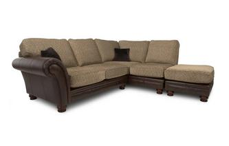 Left Arm Facing 3 Piece Formal Back Corner Sofa Alaska Astrix
