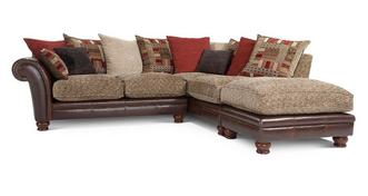 Perez Left Arm Facing 3 Piece Pillow Back Corner Sofa