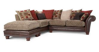 Perez Right Arm Facing 3 Piece Pillow Back Corner Sofa