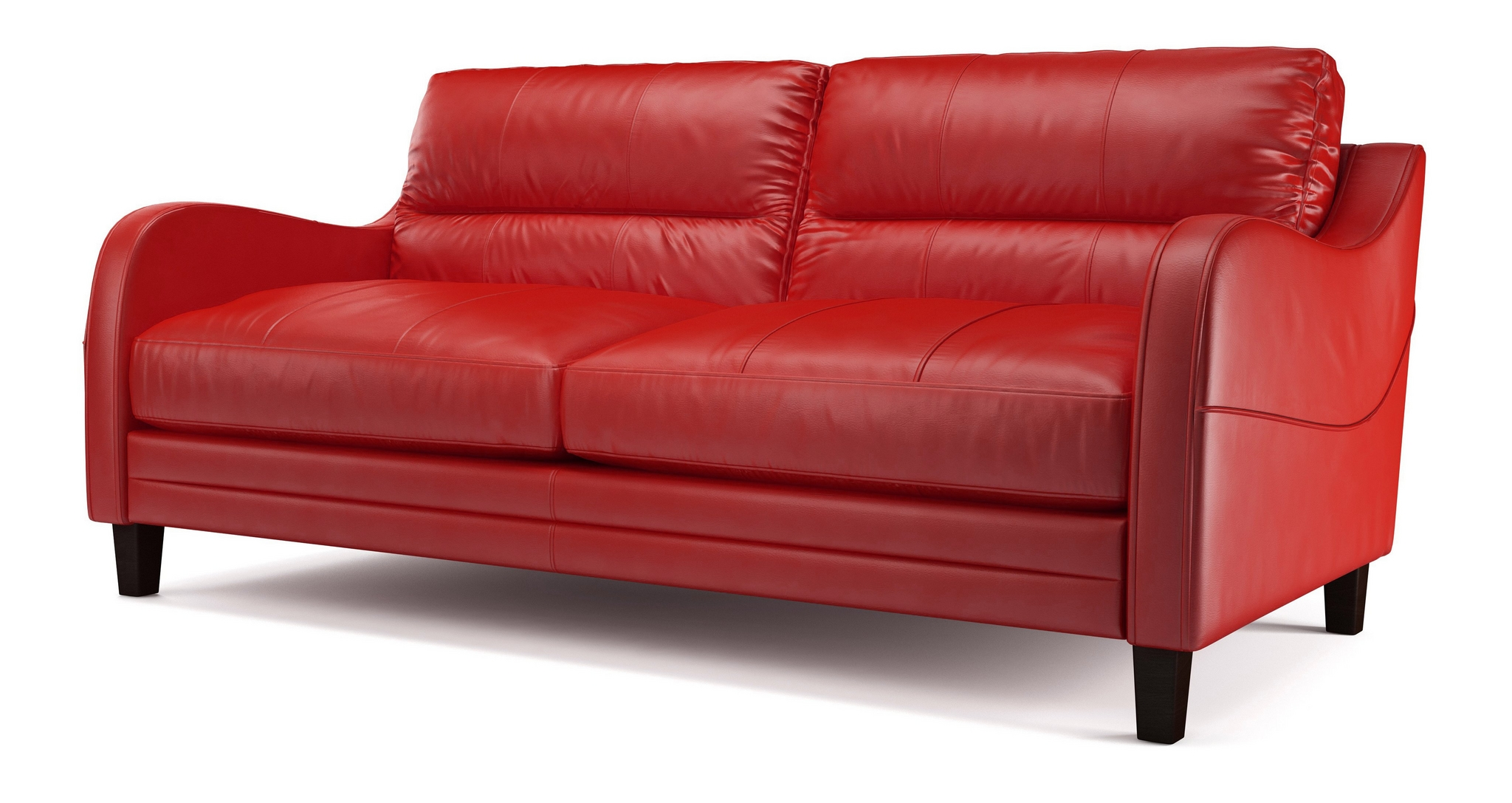 ENZO RED SUITE ITALIAN LEATHER SETTEE 3 SEATER LEATHER SOFA EBay