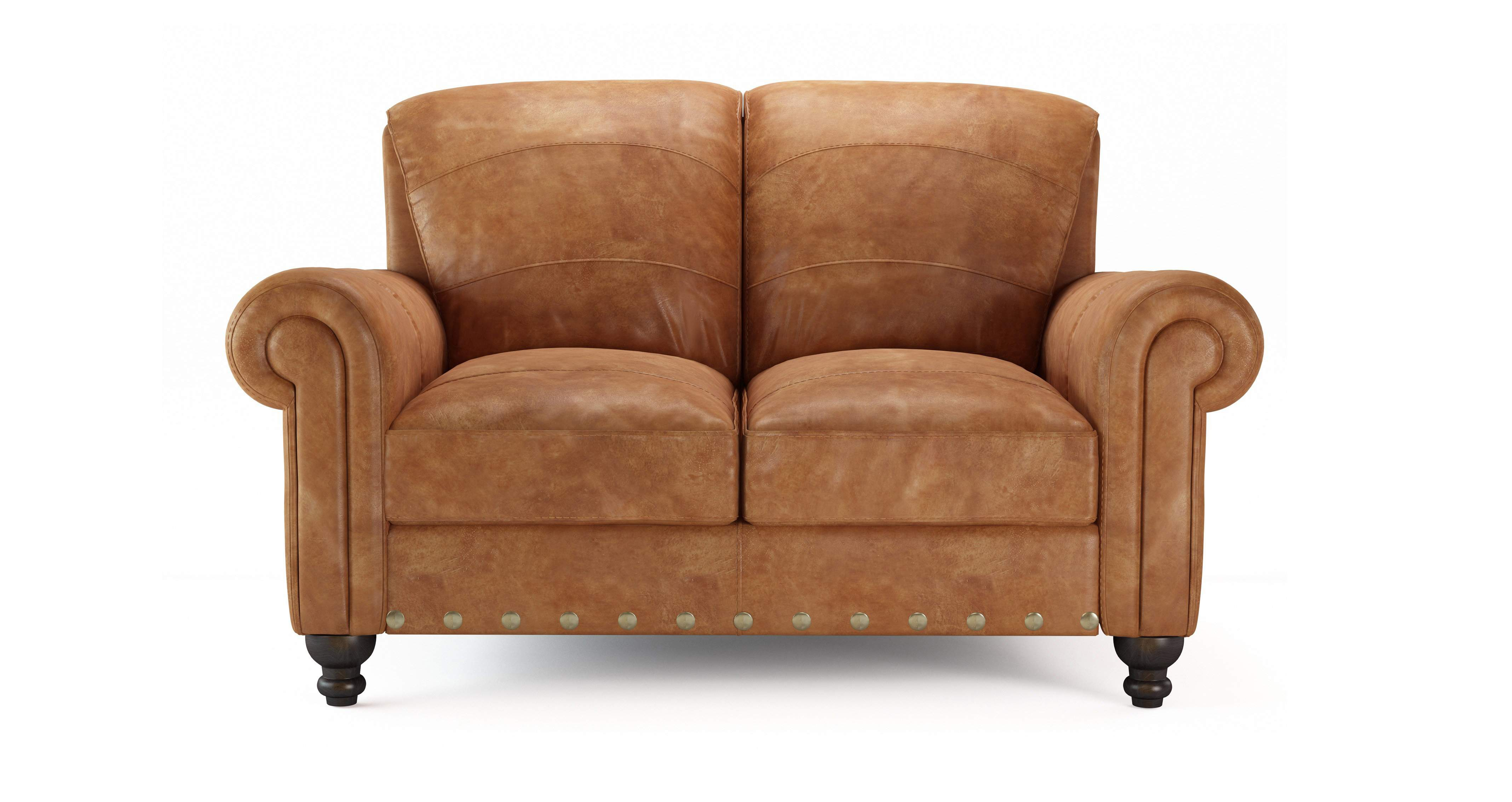 Dfs Perth 2 Seater 100 Natural Leather Sofa In Ranch
