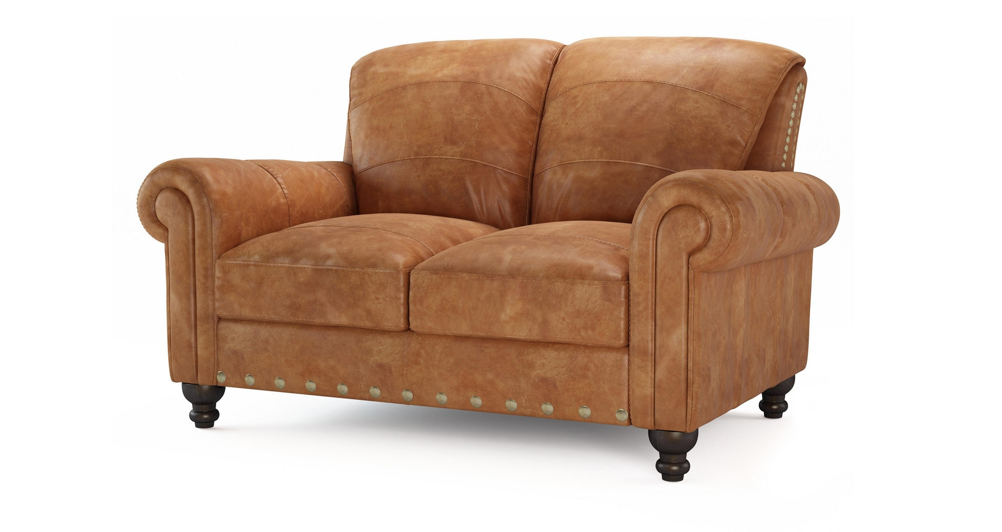 Dfs Perth 2 Seater Settee 100 Real Natural Leather Tan