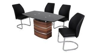 Phoenix Large Fixed Dining Table and 4 Chairs