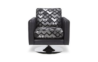 Pattern Small Swivel Chair