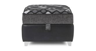 Pioneer Pattern Top Storage Footstool