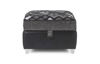 Pattern Top Storage Footstool Pioneer