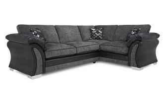 Left Hand Facing Formal Back 3 Seater Corner Sofa Pioneer