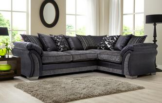 Pioneer Left Hand Facing Pillow Back 3 Seater Corner Sofa Pioneer