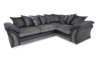Left Hand Facing Pillow Back Deluxe Corner Sofa Bed