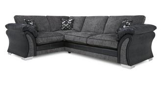 Pioneer Right Hand Facing Formal Back Deluxe Corner Sofa Bed