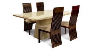 Plato Rectangular Table and Set of 4 Columbia Chairs