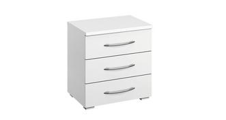 Plaza 3 Drawer Bedside Chest