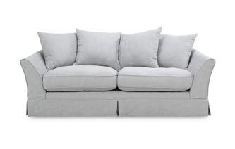 3 Seater Pillow Back Sofa Rosa