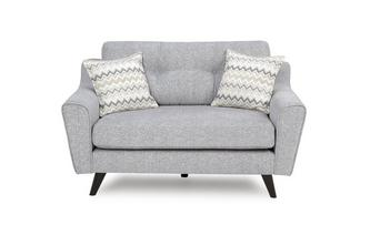 Small 2 Seater Formal Back Sofa Presence Plain