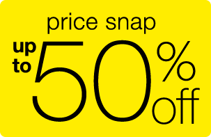 price snap - up to 50% off