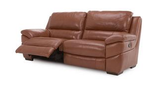 Punctual Leather and Leather Look 3 Seater Manual Recliner