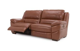 Leather and Leather Look 3 Seater Manual Recliner Brazil with Leather Look Fabric
