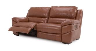 Punctual Leather and Leather Look 3 Seater Electric Recliner