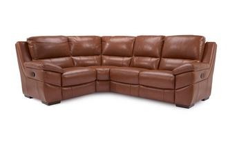 Option H Leather and Leather Look Right Hand Facing 2 Corner 1 Manual Recliner Brazil with Leather Look Fabric