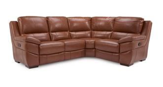 Punctual Option E Leather and Leather Look Left Hand Facing 2 Corner 1 Manual Recliner