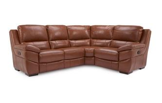 Option E Leather and Leather Look Left Hand Facing 2 Corner 1 Manual Recliner Brazil with Leather Look Fabric