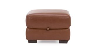 Punctual Leather and Leather Look Storage Footstool