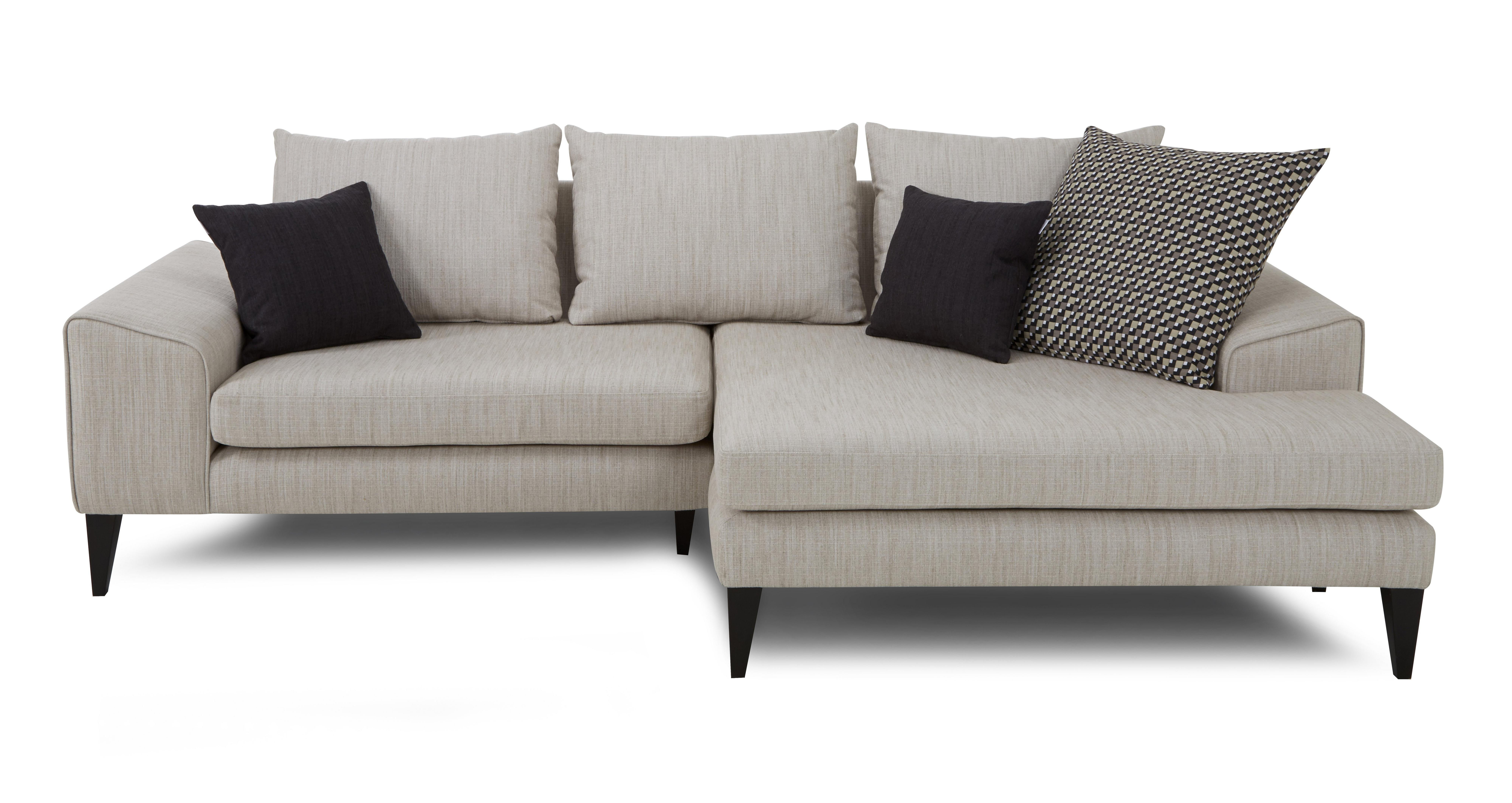 Quartz Right Hand Facing Chaise Sofa Dfs