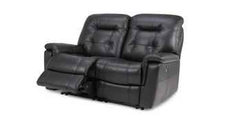 Quest Leather and Leather Look 2 Seater Electric Recliner