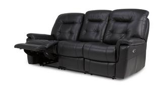 Quest Leather and Leather Look 3 Seater Electric Recliner
