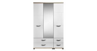 Quito 3 Door Mirror Robe with Drawers