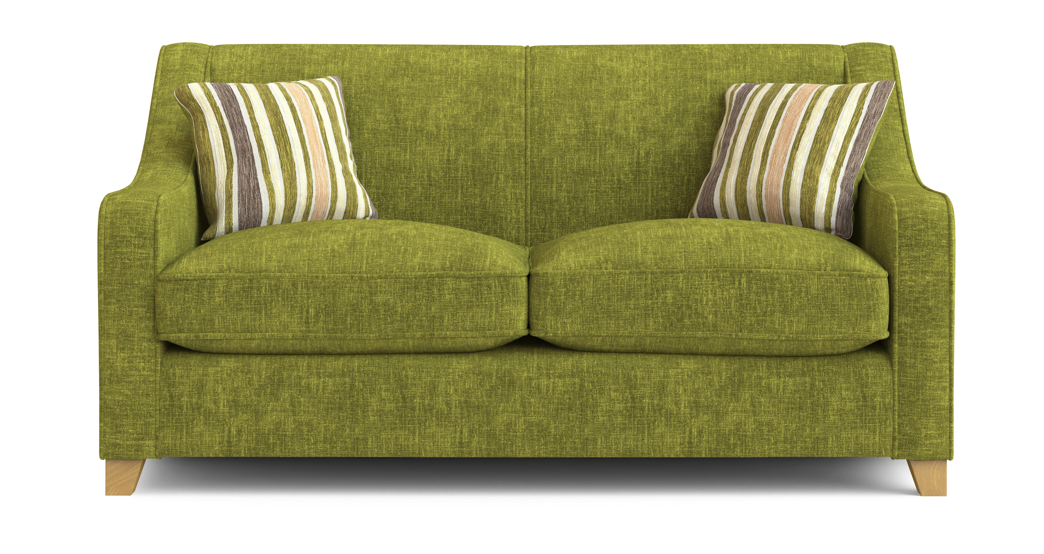 Dfs Rachel Lime Green Fabric 2 Seater Sofa Bed Ebay