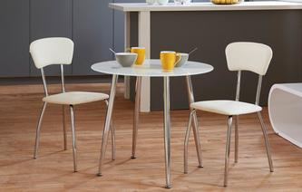 Relish Bistro Table & Set of 2 Chairs Relish White