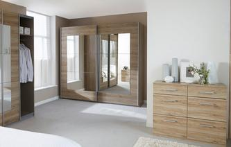 Reno Medium Mirrored Sliding Robe Reno