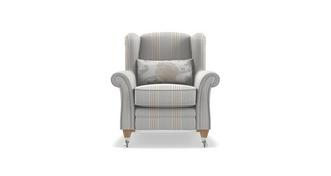 Renoir Stripe Wing Chair