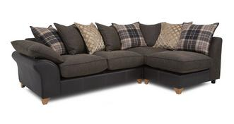 Reuben Left Arm Facing Open End Pillow Back Corner Sofa