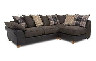 Left Arm Facing Open End Pillow Back Corner Sofa Reuben