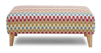 Revive Pattern Banquette Footstool