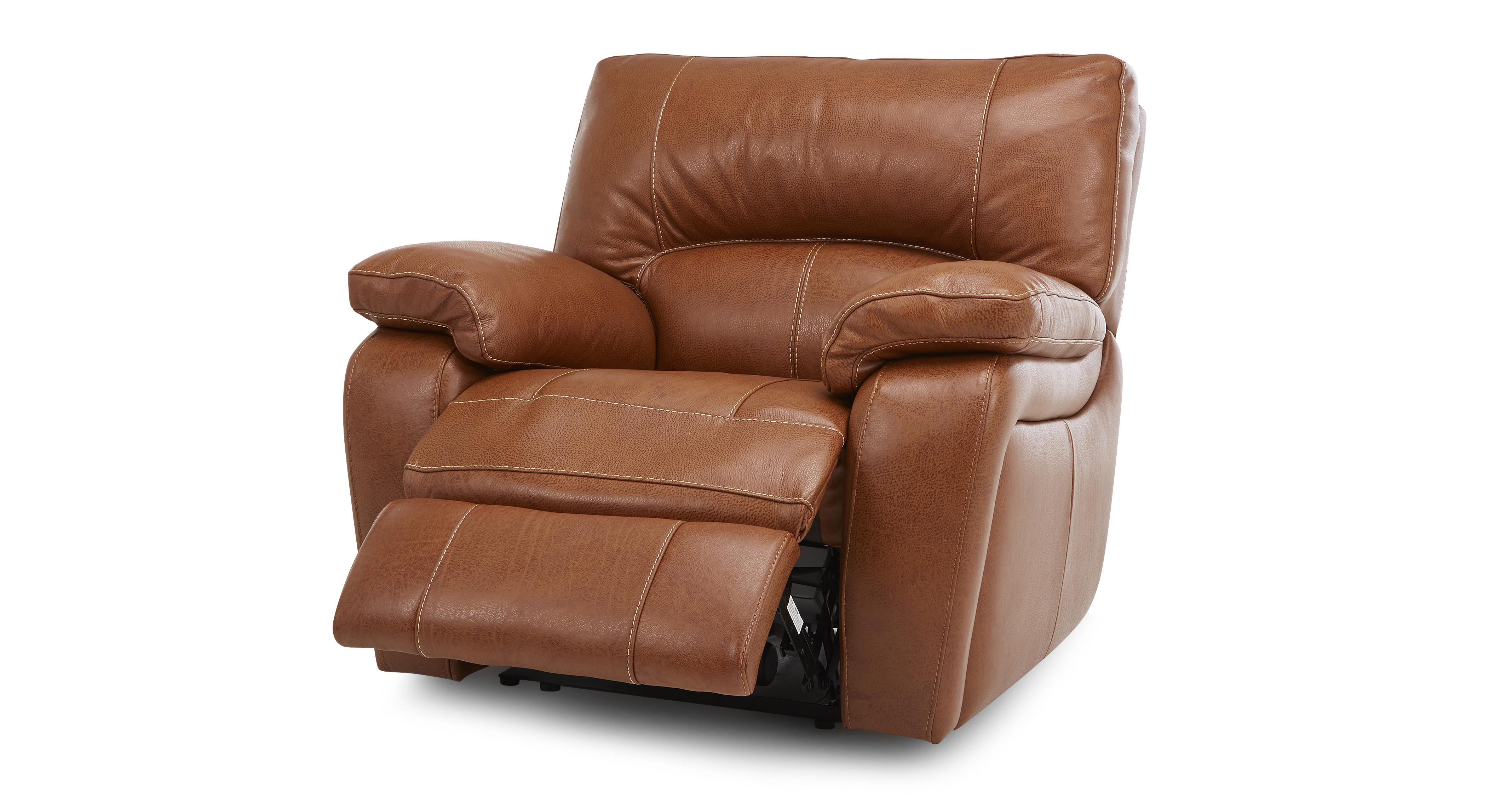 Reward Leather And Leather Look Electric Recliner Chair Brazil Contrast With