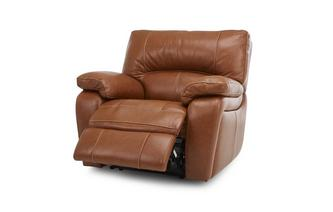 Leather and Leather Look Electric Recliner Chair Brazil Contrast with Leather Look Fabric