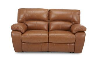 Leather and Leather Look 2 Seater Manual Recliner Brazil Contrast with Leather Look Fabric