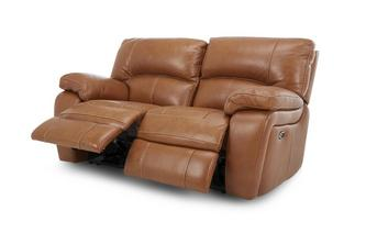 Leather 2 Seater Electric Recliner Brazil Contrast