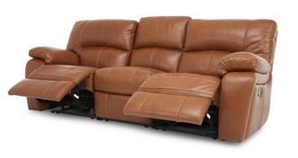 Reward Leather and Leather Look 3 Seater Manual Triple Recliner